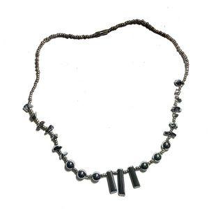Dark Gray Ombre Faux Pearl Necklace